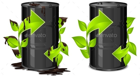 Oil Barrels with Arrow - Halloween Seasons/Holidays