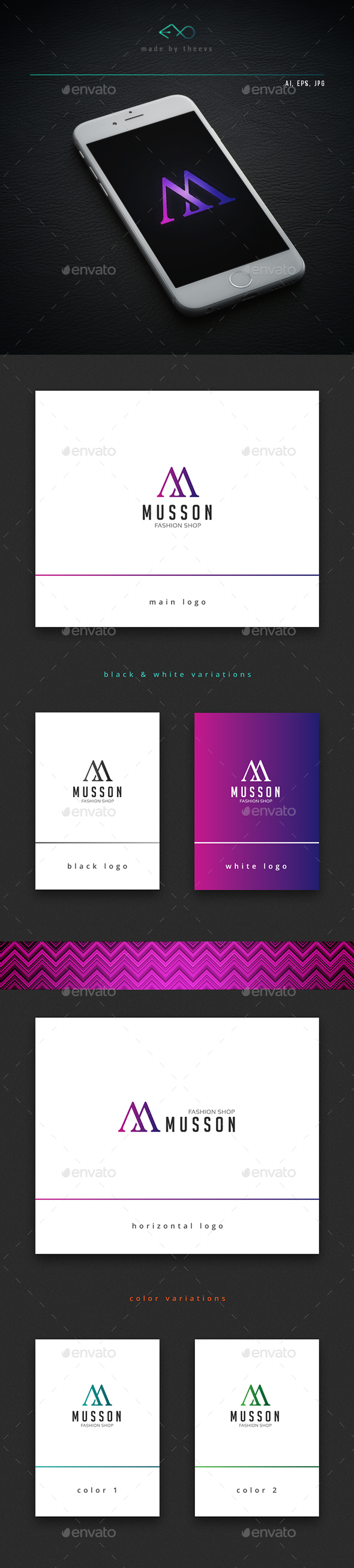 Musson - Letters Logo Templates