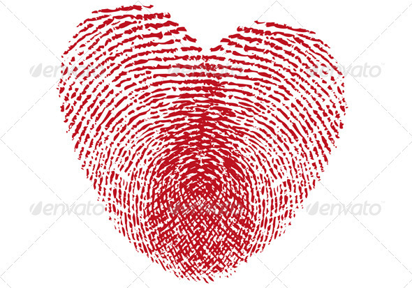 Fingerprint Heart - Valentines Seasons/Holidays
