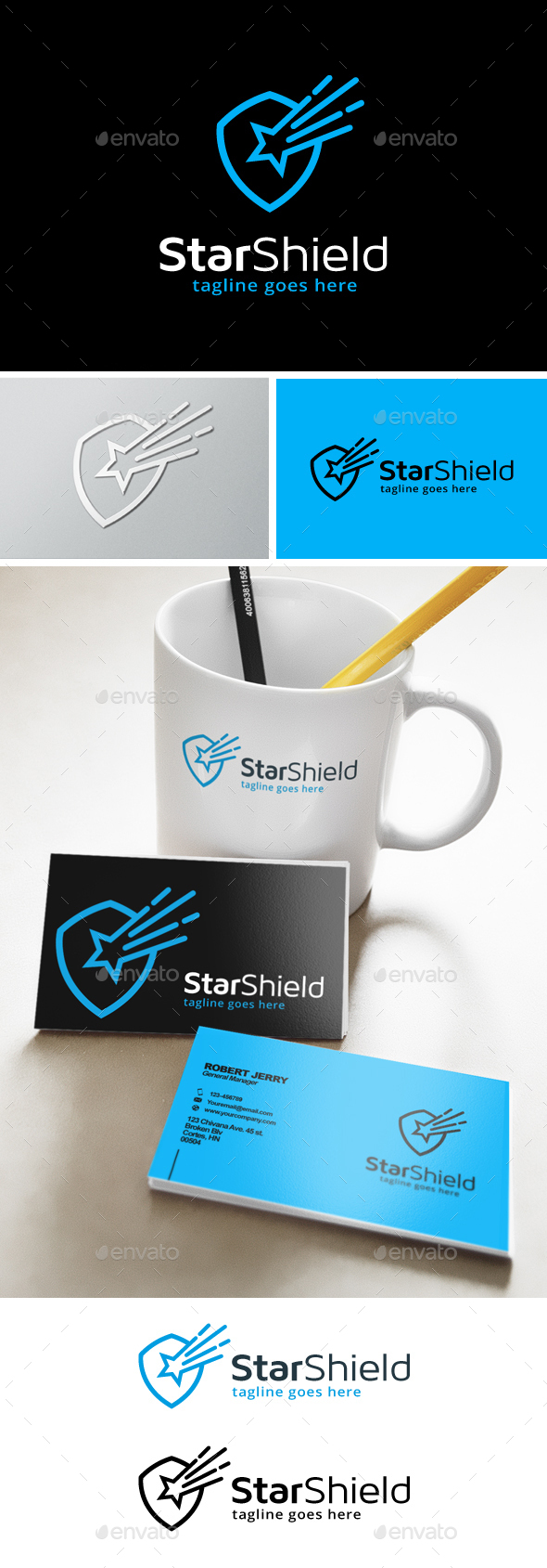 Star Shield Security Logo - Objects Logo Templates