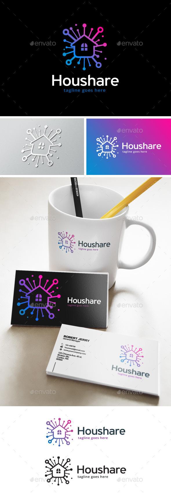 House Share Logo - Buildings Logo Templates