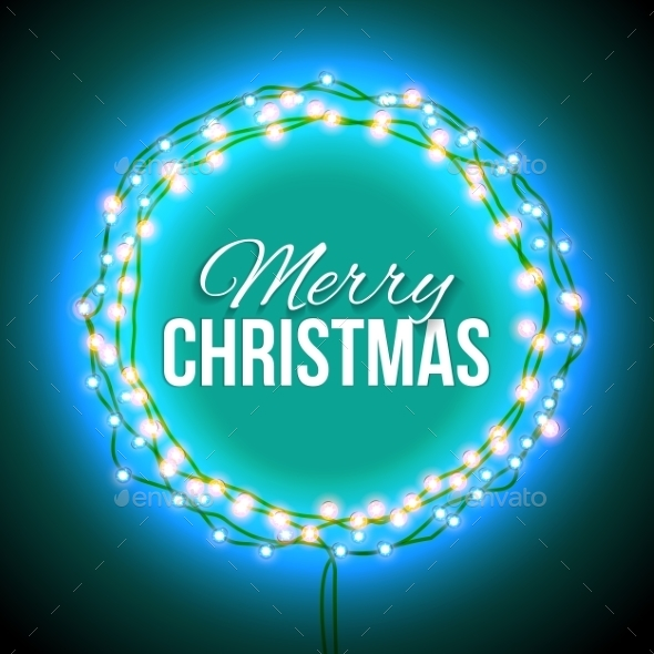 Congratulation To Christmas With Blue Lights - Backgrounds Decorative