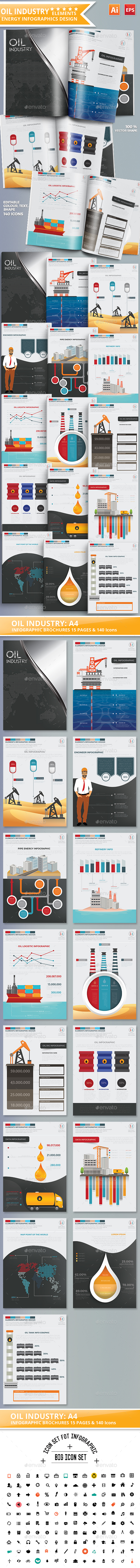 Oil Industry Infographics Design - Infographics