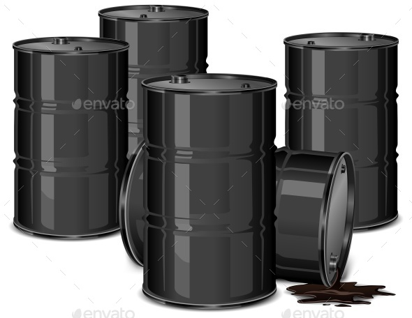 Barrels with Oil - Halloween Seasons/Holidays