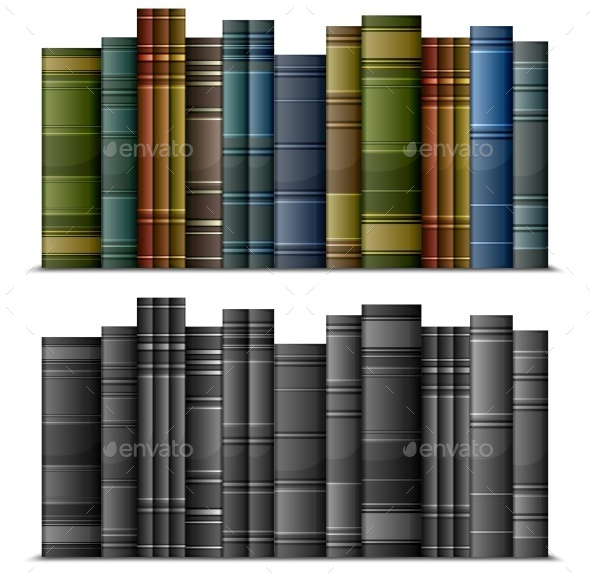 Row of  Books - Landscapes Nature