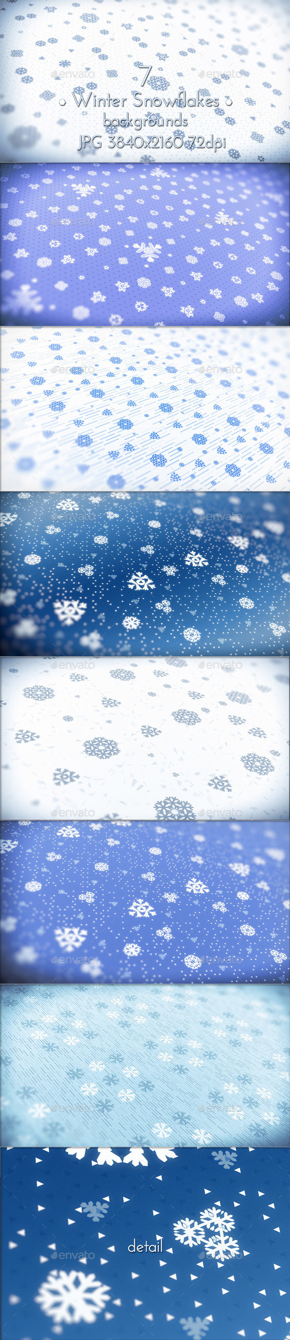 Winter Snowflakes Pattern - Patterns Backgrounds