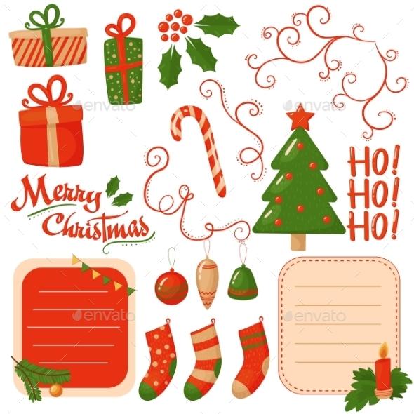 Christmas Scrapbook Elements. Vector  - Christmas Seasons/Holidays