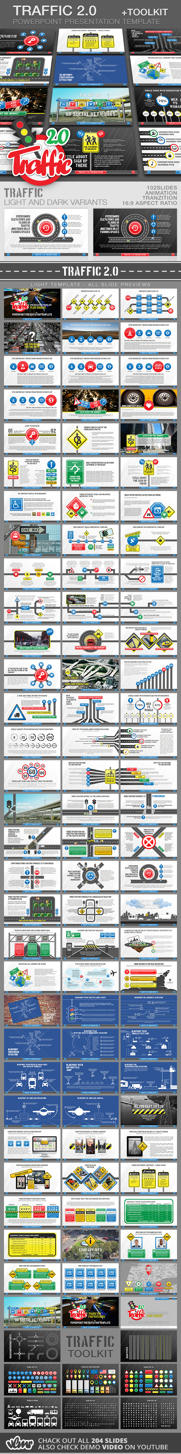 Traffic 2.0 PP Presentation Template + Toolkit - Creative PowerPoint Templates