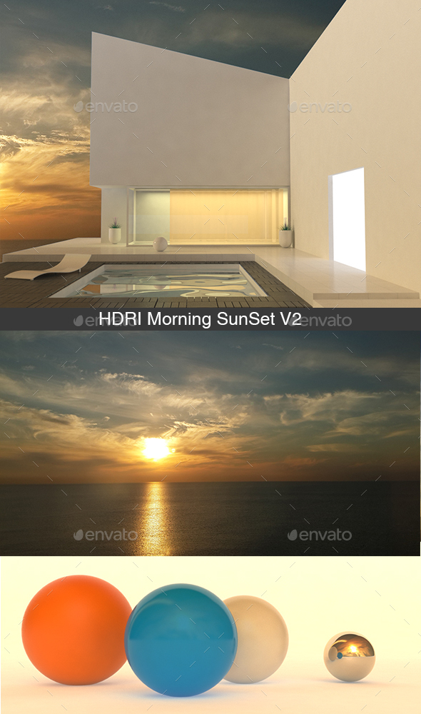 HDRI Morning SunSet V2 - 3DOcean Item for Sale