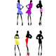 Six Fashion Girls Silhouette - GraphicRiver Item for Sale