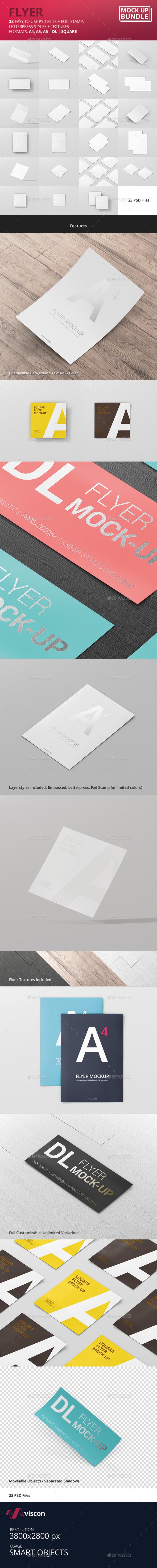 Flyer Mock-Up Bundle - Flyers Print