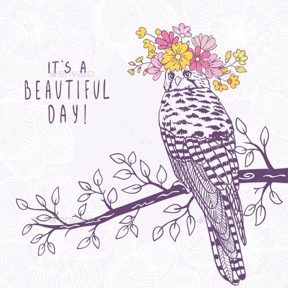 Bird Art Sketch - Flowers & Plants Nature
