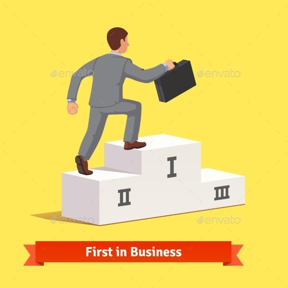 Climbing to Business Success Concept - Concepts Business