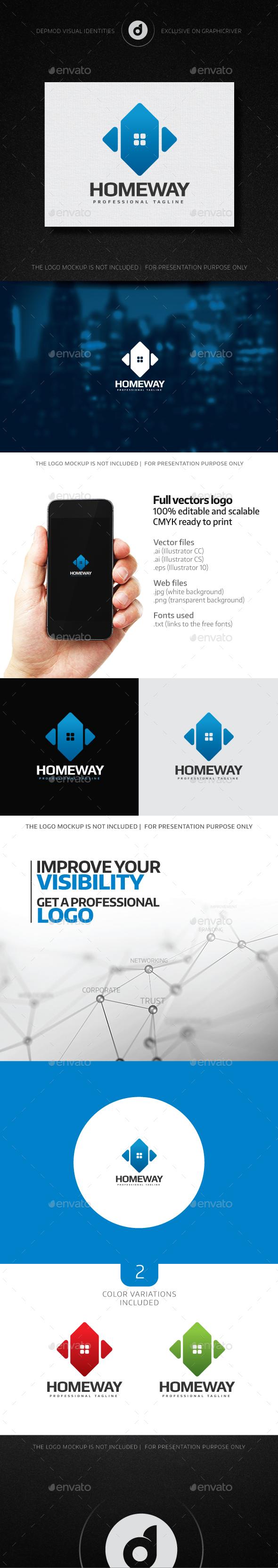 Home Way Logo - Buildings Logo Templates
