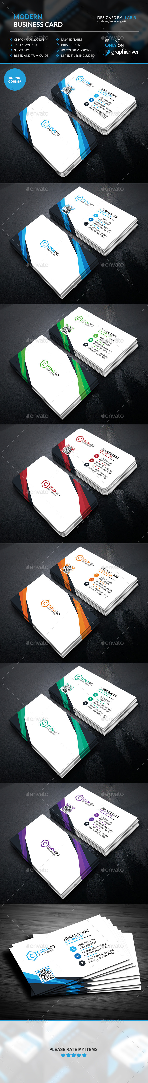 Modern Corporate Business Card  - Creative Business Cards