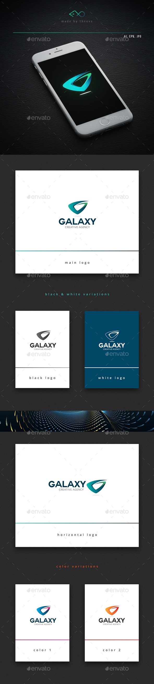 Galaxy - Letters Logo Templates