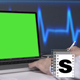 Doctor Using  Green Screen Laptop - VideoHive Item for Sale