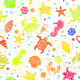 Seamless Tropical Sea-Life Vector Pattern - GraphicRiver Item for Sale
