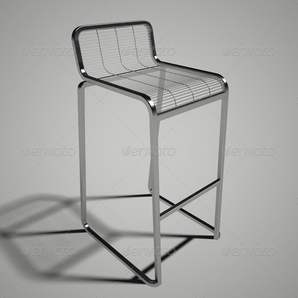 Aria Bar Stool by R. Marcato - 3DOcean Item for Sale