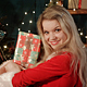 Sexy Cute Blonde Woman With Christmas Gift - VideoHive Item for Sale