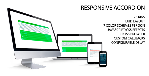 Responsive Accordion - CodeCanyon Item for Sale