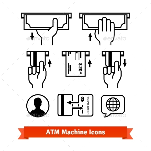 Hands with Credit Cards and Cash - Miscellaneous Vectors