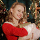 Sexy Blonde Girl With Christmas Gift - VideoHive Item for Sale