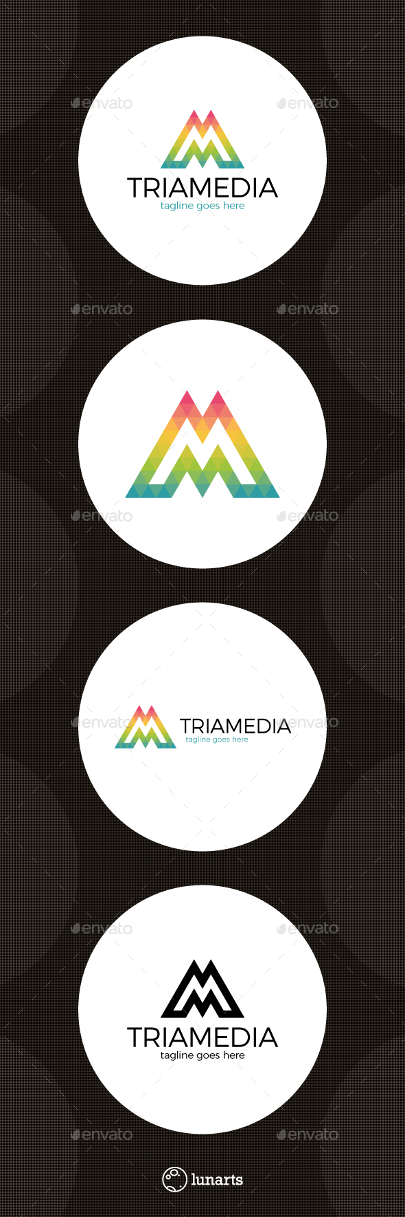 Triangle Media Logo - Letter M - Letters Logo Templates