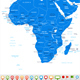 Africa Map and Navigation Icons - GraphicRiver Item for Sale