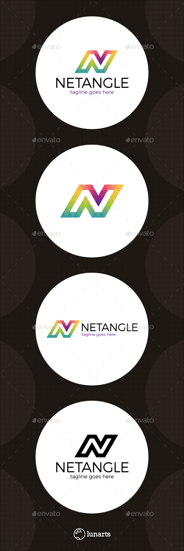 Triangle Network Logo - Letter N - Letters Logo Templates
