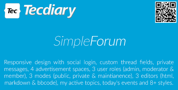 Simple Forum - Responsive Bulletin Board - CodeCanyon Item for Sale