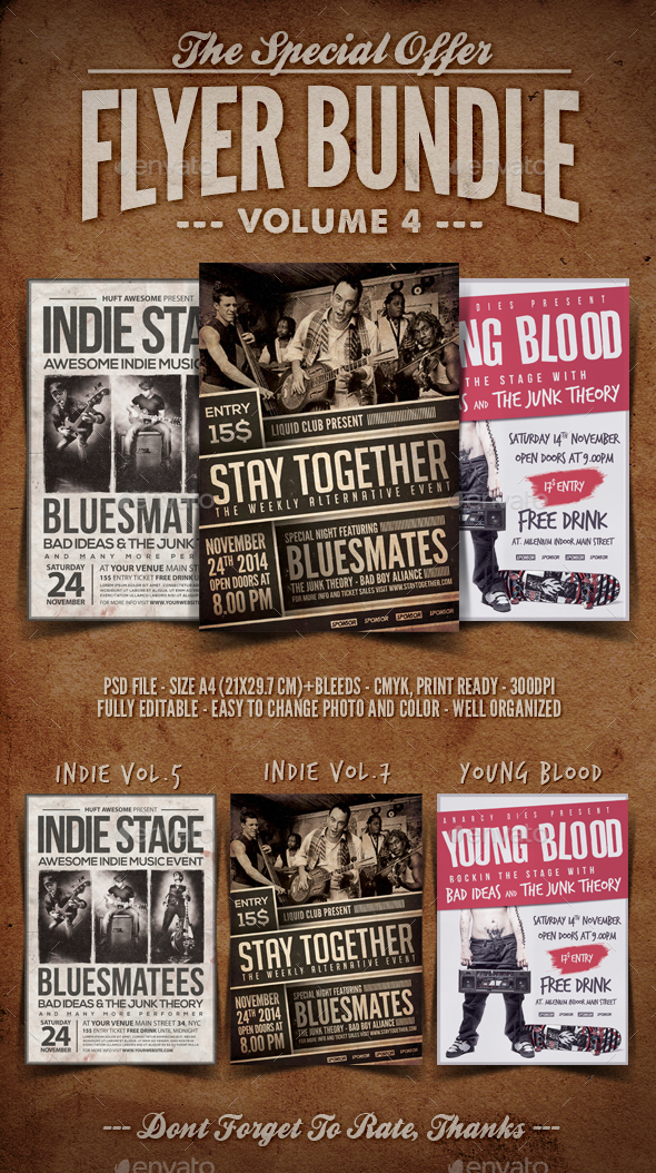 Flyer Bundle Vol.4 - Concerts Events