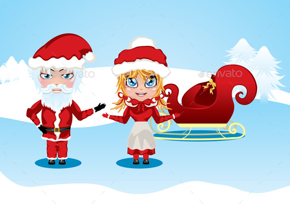 Santa and Mrs Claus - Christmas Seasons/Holidays