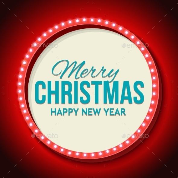 Congratulation To Christmas With Night Retro - Christmas Seasons/Holidays