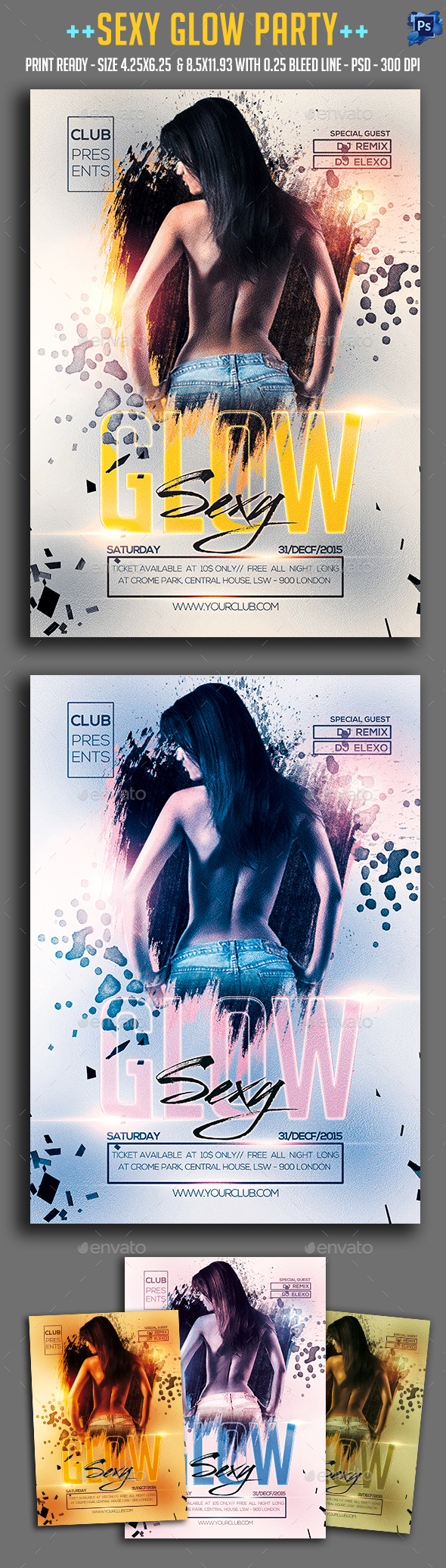 Sexy Glow Party Flyer - Clubs & Parties Events