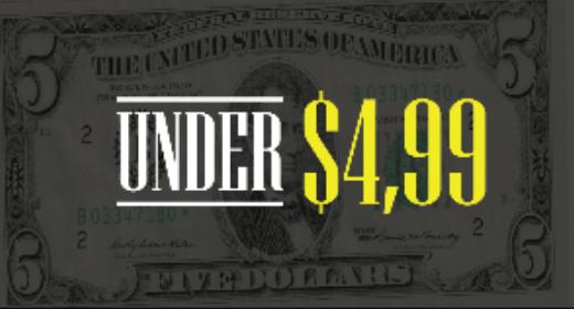 Under $4,99