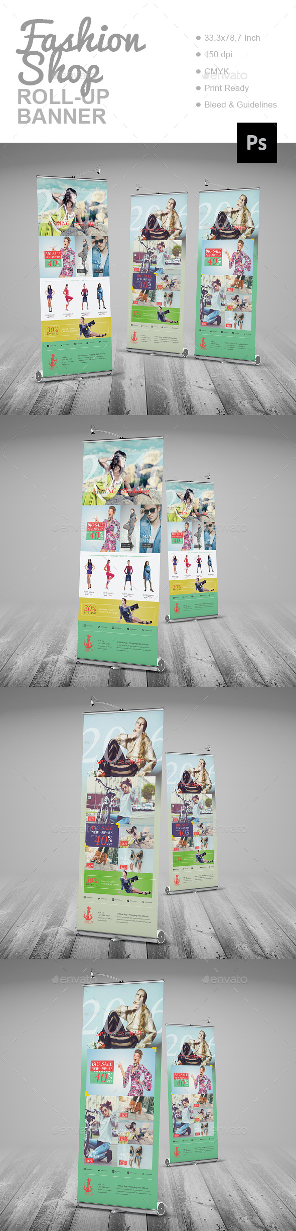 Fashion Shop Roll-Up Banner - Signage Print Templates