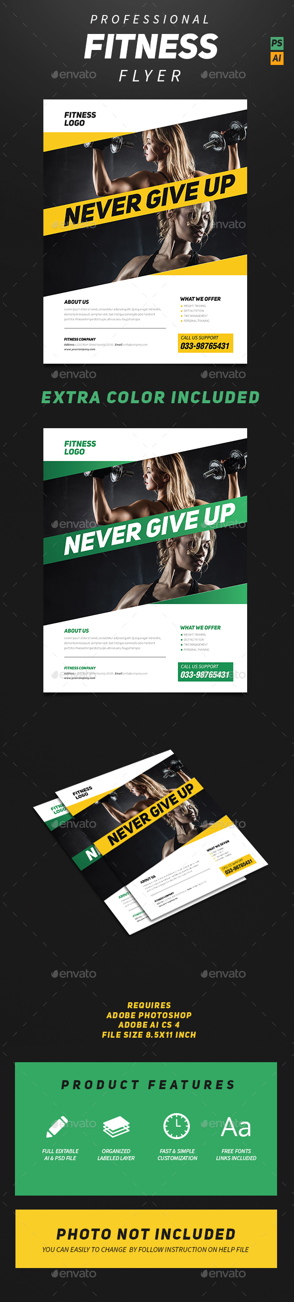 Professional Fitness Flyer - Sports Events
