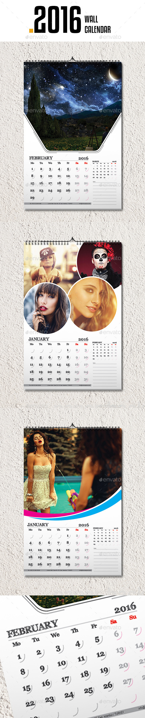 Wall Calendar 2016 v3 - Calendars Stationery