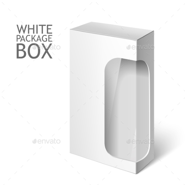 White Package Box with Window - Man-made Objects Objects