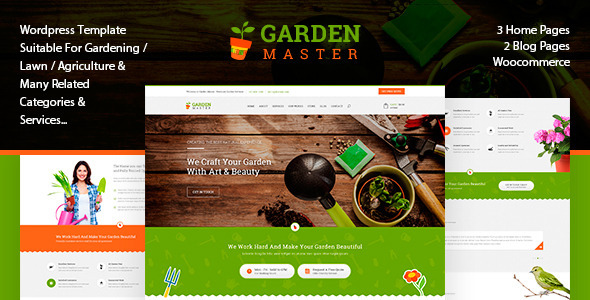 Garden Master – Agriculture & Lawn Shop theme