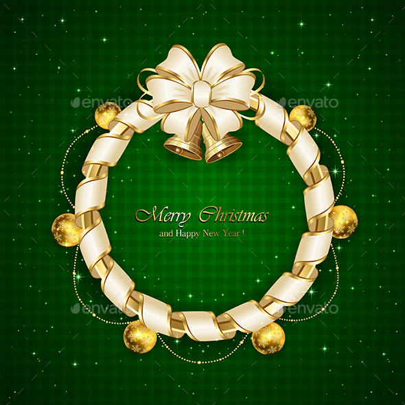 Christmas Decoration on Green Background - Christmas Seasons/Holidays
