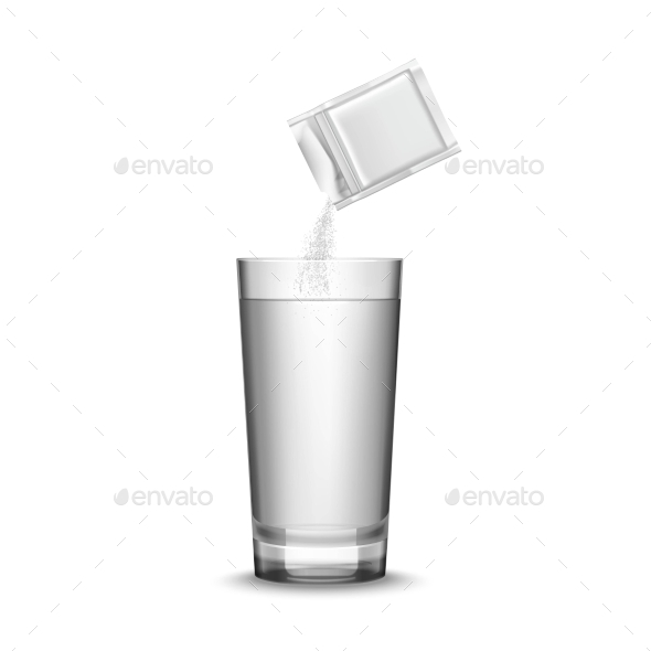 Medicine and Glass Illustration  - Man-made Objects Objects