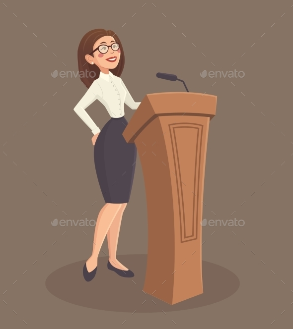 Speaker Woman Illustration  - People Characters