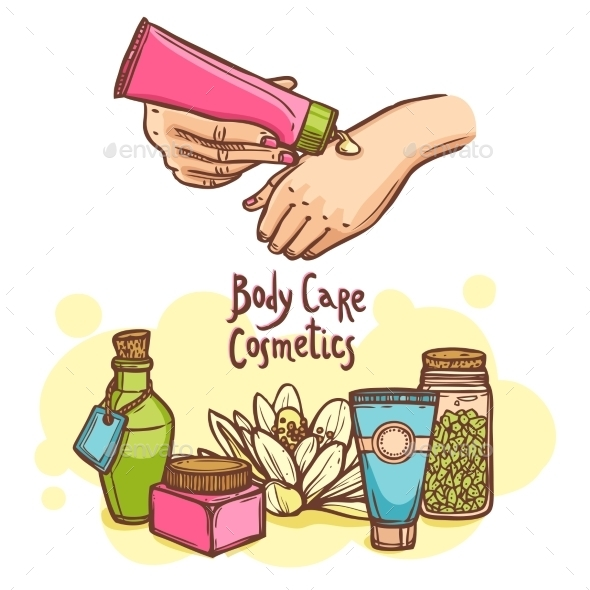 Body Care Cosmetics Products Ad Poster - Miscellaneous Conceptual