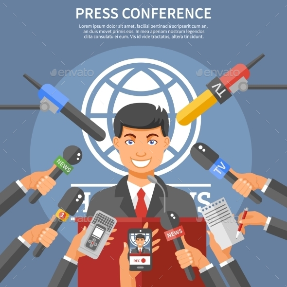 Press Conference Concept  - Communications Technology