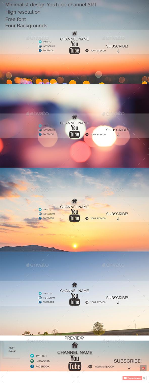 Minimalist design YouTube channel ART - YouTube Social Media