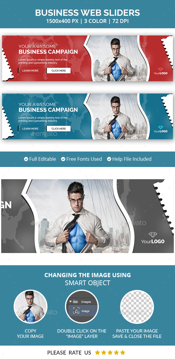 Web Business Sliders - Sliders & Features Web Elements