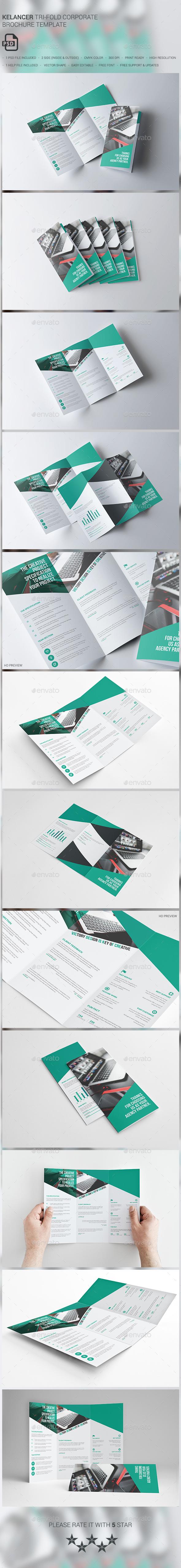 Kelancer Corporate Trifold Brochure - Brochures Print Templates