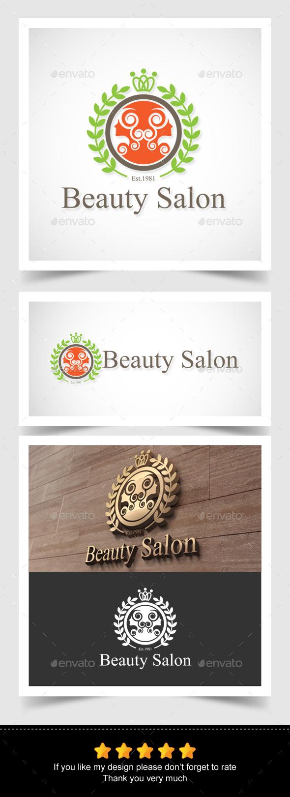 Beauty Salon Logo - Crests Logo Templates